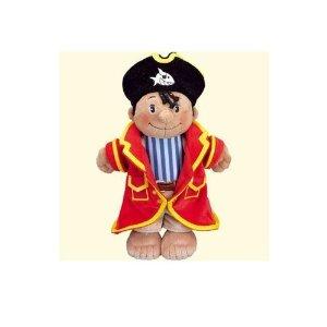 Λούτρινος κούκλος Capt'n Sharky με παλτό και καπέλο. Από την εταιρεία Spiegelburg. λούτρινα λούτρινο το ξύλινο αλογάκι
