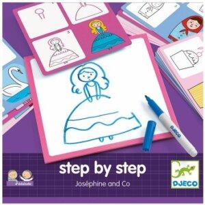 ζωγραφική, Ζωγραφική βήμα-βήμα 'Ζοζεφίν', Djeco, djeco 08320, καλλιτεχνικά, ζωγραφική, εκπαιδευτικά παιχνίδια, παιδαγωγικά παιχνίδια, το ξύλινο αλογάκι, παιδικά παζλ, παζλ για παιδιά, pazl, παιδικά παιχνίδια, δώρα, δώρο, επιτραπέζια, παιχνίδια για κορίτσια, παιχνίδια για αγόρια, Θρακομακεδόνες.
