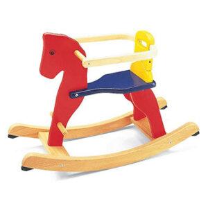 Αλογάκι χρωματιστό Pin Toys, Pin Toys 59111, ξύλινο αλογάκι, ξύλινα αλογάκια, ξύλινα παιχνίδια, ξύλινο αλογάκι κουνιστό, κουνιστο ζωακι, κουνιστα αλογακια για μωρα, αλογακι παιδικο