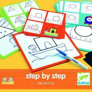 Djeco ζωγραφική βήμα-βήμα 'Εικόνες με σχήματα', καλλιτεχνικά, djeco, djeco 08322, kallitexnika, εκπαιδευτικά παιχνίδια, παιχνιδια εκπαιδευτικα, ekpaideutika paixnidia, έξυπνα παιχνίδια, εξυπνα παιχνιδια
