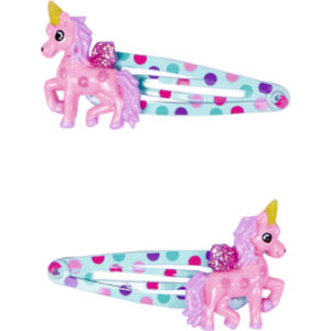 Κοκαλάκια Μαλλιών Ροζ Μονόκερος Lillifee,13110, spiegelburg, hair clips lillifee pink unicorn