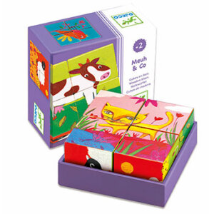 "Djeco 4 κύβοι ""Ζωάκια φάρμας"", djeco, djeco 01900, τουβλάκια, κύβοι, παιχνίδια με τουβλάκια, βρεφικά, εκπαιδευτικά παιχνίδια, παιδαγωγικά παιχνίδια, ψαράκια, παιδικά παιχνίδια, δώρα, δώρο, επιτραπέζια, παιχνίδια για κορίτσια, παιχνίδια για αγόρια"