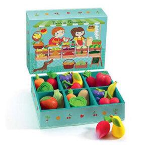 Djeco Σετ φρούτων και λαχανικών (18 τμχ), djeco, djeco 06621, σετ φρούτων και λαχανικών, μαγαζάκι, παιχνίδι ρόλων, παιχνίδια ρόλων, παιχνιδια, πεχνιδια, paixnidia gia koritsia, παιχνιδια για αγορια, paixnidia gia agoria, παιχνιδια για παιδια, παιδικα παιχνιδια