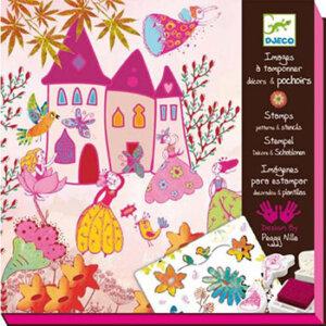 """Djeco Ζωγραφική με στάμπες και stencils """"Η πριγκίπισσα"""", χειροτεχνίες, χειροτεχνίες για παιδιά, κατασκευές, καλλιτεχνικά, εκπαιδευτικά παιχνίδια, ζωγραφική, ζωγραφιές, παιδαγωγικά, εκπαιδευτικά, παιδαγωγικά παιχνίδια, djeco, djeco 08791, καλλιτεχνικά, παιχνιδια, πεχνιδια, paixnidia gia koritsia, παιχνιδια για αγορια, paixnidia gia agoria, παιχνιδια για παιδια, παιδικα παιχνιδια"""