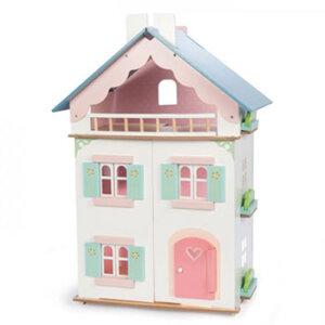 Ξύλινο κουκλόσπιτο Ιουλιέτας, παιδικα παιχνιδια, εκπαιδευτικα παιχνιδια, παιχνιδια με σπιτια, κατασκευεσ για παιδια, κουκλοσπιτο, κουκλοσπιτα, κουκλόσπιτο, κουκλόσπιτα, Η128, le toy van, παιχνίδια le toy van