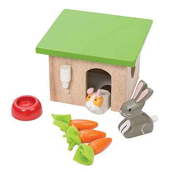 Σετ Bunny & Guinea της Le Toy Van, παιδικα παιχνιδια, εκπαιδευτικα παιχνιδια, παιχνιδια με σπιτια, κατασκευεσ για παιδια, κουκλοσπιτο, κουκλοσπιτα, κουκλόσπιτο, κουκλόσπιτα, ME045, le toy van, παιχνίδια le toy van
