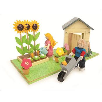 Σετ κήπου της Le Toy Van, παιδικα παιχνιδια, εκπαιδευτικα παιχνιδια, παιχνιδια με σπιτια, κατασκευεσ για παιδια, κουκλοσπιτο, κουκλοσπιτα, κουκλόσπιτο, κουκλόσπιτα, ME077, le toy van, παιχνίδια le toy van