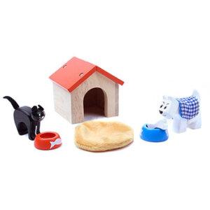 Ξύλινο σπιτάκι με γάτα και σκύλο Le Toy Van, παιδικα παιχνιδια, εκπαιδευτικα παιχνιδια, παιχνιδια με σπιτια, κατασκευεσ για παιδια, κουκλοσπιτο, κουκλοσπιτα, κουκλόσπιτο, κουκλόσπιτα, ME043, le toy van, παιχνίδια le toy van