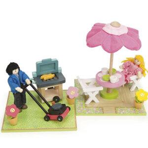 Σετ Αυλή και Μπάρμπεκιου της Le Toy Van, παιδικα παιχνιδια, εκπαιδευτικα παιχνιδια, παιχνιδια με σπιτια, κατασκευεσ για παιδια, κουκλοσπιτο, κουκλοσπιτα, κουκλόσπιτο, κουκλόσπιτα, ME078, le toy van, παιχνίδια le toy van