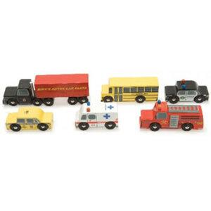 Σετ 6 ξύλινων αυτοκινήτων Νέας Υόρκης, ξύλινα παιχνίδια, παιχνίδια, παιχνιδια, παιχνίδια για αγόρια. αυτοκινητάκια, παιχνίδια με αυτοκίνητα, παιχνίδια με αυτοκινητάκια, δώρα, δώρο, δώρα για αγόρια, δώρα για παιδιά, οικολογικά παιχνίδια, ξύλινη πυροσβεστική, tv268, le toy van, παιχνίδια le toy van