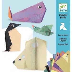 Djeco Κατασκευή οριγκάμι 'πολικά ζώα', dj 08777, origami facile, easy origami polar bears, origami gia paidia