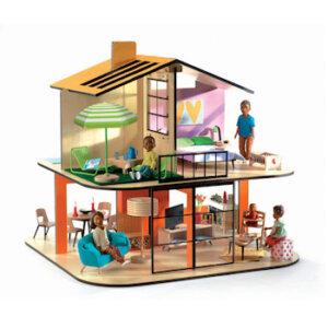 Djeco Κουκλόσπιτο 'Το σπίτι με τα χρώματα'', dj 07803, djeco doll's houses, doll house cube, djeco, kouklospito, spiti gia koukles, paixnidi gia koritsia, kouklospito djeco, kouklospito kivos
