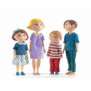 Djeco Σετ κουκλόσπιτου 'η οικογένεια Gaspard -Romy', kouklospito, oikogeneia gia kouklospito, dj 07811, djeco doll house family, knuckles gia kouklospito