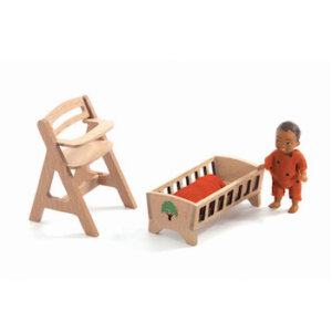Djeco Σετ κουκλόσπιτου 'το δωμάτιο μωρου ', dj 07815, djeco, doll house, bebe lolly, kouklospito, dwmatio gia kouklospito,