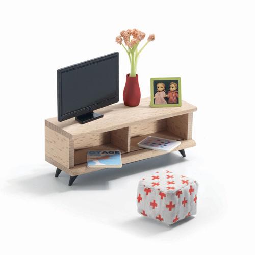 Djeco Σετ κουκλόσπιτου 'Δωμάτιο tv'
