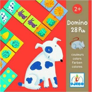 Djeco Ντόμινο 'σκυλάκι', domino 28 pics, domino colors, djeco, dj 08111