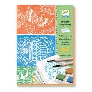 Djeco Ζωγραφική Rubber engraving, djeco, dj 08614, workshops, zwgrafiki me stampes