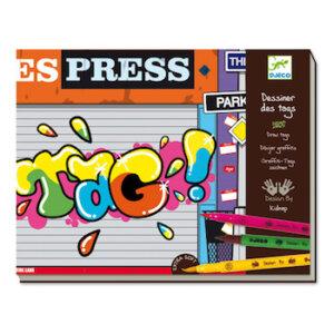 Djeco Ζωγραφίζω με tags, djeco, dj 08687, tags, felt tips
