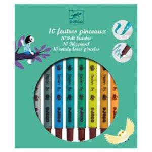 Djeco Μαρκαδόροι σχεδίων για αγόρια (10 τεμάχια), dj 08801, markadoroi diplis opsis, brushes, markers, djeco