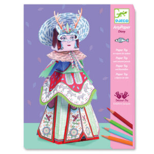 Djeco κατασκευή με χαρτί 'Βασίλισσα του Βορρά Diany', dj 09663, arty paper, djeco