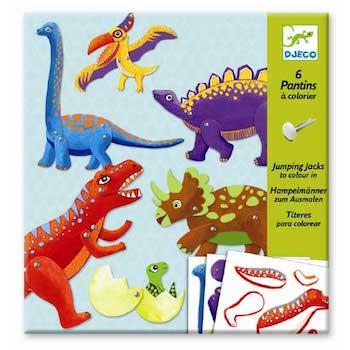 Djeco Κατασκευάζω μαριονέτες 'δεινόσαυροι', dj 09680, jumping jacks, djeco