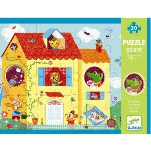 Djeco Πάζλ 'Σπίτι', dj 07010,puzzle djeco, djeco pazl, djeco παζλ, παζλ για παιδια, παζλ για μωρα, τα πρωτα παζλ, puzzle gia mwra, puzzle gia paidia, ta prwta puzzle, djeco paidika pazl, djeco paidika puzzle, djeco παιδικα παζλ