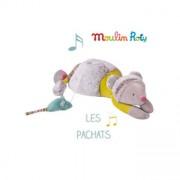 Moulin Roty λούτρινη μουσική γατούλα-ποντικάκι 'Les Pachats'