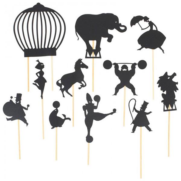 Moulin Roty Φιγούρες για θέατρο σκιών Τσίρκο