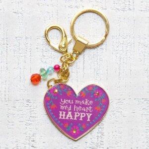 """Μπρελόκ """"Heart Happy"""" Natural Life, μπρελοκ, κλειδια, διακοσμητικα, μπρελοκ για ζευγαρια, μεταλικα, κρεμαστα, brelock, μπρελοκ κλειδιων, μπρελοκ αυτοκινητου, δώρα, κλειδοθηκη, μπρελοκ για κλειδια, εξυπνα, χειροποιητα μπρελοκ, μπρελοκ κλειδιων αυτοκινητου, mprelok, κρικοι για μπρελοκ, δωρα, δωρο πασχα, πρωτοτυπο, δωρο χριστουγεννων, δωρα χριστουγεννων, δωρα γενεθλιων, χριστουγεννιατικα δωρα, πρωτοτυπα δωρα, δωρα για το σπιτι, τι δωρο να παρω στην κολλητη μου, χειροποιητα χριστουγεννιατικα δωρα, δωρα γενεθλιων για φιλη, το καλυτερο δωρο, ιδέεσ για δώρα γενεθλίων, natural life, natural life greece, KC130"""