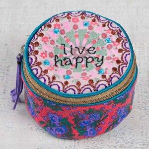 """Μπιζουτιέρα υφασμάτινη Natural Life """"Live Happy"""", κοσμηματα, οργανωση κοσμηματων, kosmhmata, δωρο για την μαμα, κοσμηματοθήκη, μπιζουτιερα, διακοσμητικα σπιτιου, κουτι, παιδικα παιχνιδια, κουτια αποθηκευσησ, γυναικεια αξεσουαρ, δωρο χριστουγεννων, χριστουγεννιατικα δωρα, δωρα, πρωτοτυπα δωρα, δωρα γενεθλιων, ιδέεσ για δώρα γενεθλίων, dwra, δωρα για φιλεσ, τι δωρο να παρω, χειροποιητα δωρα, τι δωρο να παρω στην κολλητη μου, natural life, natural life greece, BAG211"""