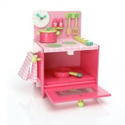 Djeco Παιχνίδι Ρόλου 'Σετ ροζ ηλεκτρική κουζίνα'
