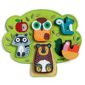 Djeco Ξύλινα σφηνώματα 'Ζωάκια στο δέντρο' σε υφασμάτινη βάση, pazl djeco, παζλ djeco, παιδικά παζλ, παζλ για παιδιά, pazl, puzzle, puzzles, παιχνίδια με παζλ, παζλ games, παζλ για κορίτσια, παζλ για παιδιά, παιδικά παιχνίδια, δώρα, δώρο, επιτραπέζια, παιχνίδια για κορίτσια, παιχνίδια για αγόρια, djeco, djeco παιχνίδια, djeco παζλ, djeco online shop, παιχνίδια djeco αθήνα, djeco θεσσαλονικη, djeco 01039