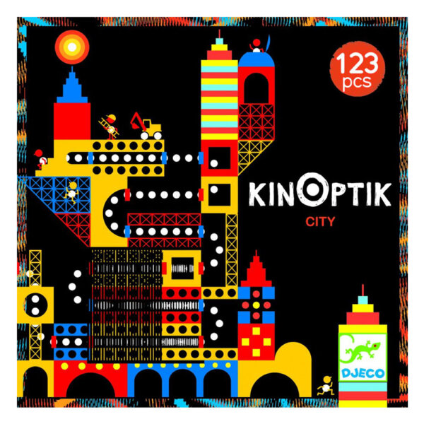 "Djeco Kinoptik παζλ με μαγνήτες και εφέ κίνησης εικόνας ""Η πόλη"" (123 τμχ)"