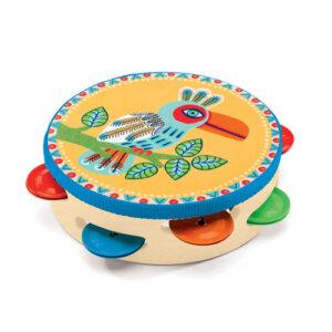 Djeco Ταμπουρίνο 'Παπαγάλος' 15,5εκ., παιχνιδια, πεχνιδια, paixnidia gia koritsia, παιχνιδια για αγορια, paixnidia gia agoria, μουσικη, ξύλινα παιχνίδια, παιχνιδια με μουσικα οργανα, παιχνιδια για παιδια, παιδικα παιχνιδια, μουσικα οργανα, ξυλινα παιχνιδια, mousika organa, πνευστα, πνευστα οργανα, μουσικα οργανα για παιδια, djeco, djeco παιχνίδια, djeco παζλ, djeco online shop, παιχνίδια djeco αθήνα, djeco θεσσαλονικη, djeco 06005
