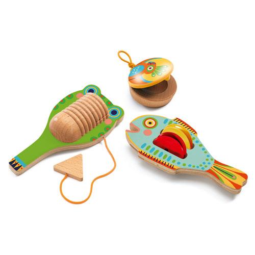 Djeco Σετ 3 Κρουστών ξύλινων ΄Καστανιέτα-Ζίλια-Ξύστρα΄, παιχνιδια, πεχνιδια, paixnidia gia koritsia, παιχνιδια για αγορια, paixnidia gia agoria, μουσικη, ξύλινα παιχνίδια, παιχνιδια με μουσικα οργανα, παιχνιδια για παιδια, παιδικα παιχνιδια, μουσικα οργανα, ξυλινα παιχνιδια, mousika organa, πνευστα, πνευστα οργανα, μουσικα οργανα για παιδια, djeco, djeco παιχνίδια, djeco παζλ, djeco online shop, παιχνίδια djeco αθήνα, djeco θεσσαλονικη, djeco 06020