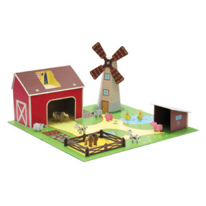 Kroom Σετ 'Η Φάρμα', παιδικα παιχνιδια, εκπαιδευτικα παιχνιδια, παιχνιδια με σπιτια, κατασκευεσ για παιδια, κουκλοσπιτο, κουκλοσπιτα, κουκλόσπιτο, κουκλόσπιτα, kroom, kroom K301