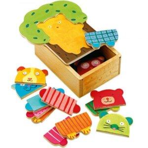 Djeco Ξύλινο Παζλ Συνδυασμών 'Τα ζωάκια', pazl djeco, παζλ djeco, παιδικά παζλ, παζλ για παιδιά, pazl, puzzle, puzzles, παιχνίδια με παζλ, παζλ games, παζλ για κορίτσια, παζλ για παιδιά, παιδικά παιχνίδια, δώρα, δώρο, επιτραπέζια, παιχνίδια για κορίτσια, παιχνίδια για αγόρια, djeco, djeco παιχνίδια, djeco παζλ, djeco online shop, παιχνίδια djeco αθήνα, djeco θεσσαλονικη, djeco 01681