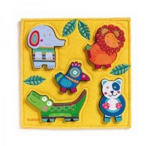 Djeco Ξύλινα σφηνώματα 'Ζωάκια Ζούγκλας' σε υφασμάτινη βάση, pazl djeco, παζλ djeco, παιδικά παζλ, παζλ για παιδιά, pazl, puzzle, puzzles, παιχνίδια με παζλ, παζλ games, παζλ για κορίτσια, παζλ για παιδιά, παιδικά παιχνίδια, δώρα, δώρο, επιτραπέζια, παιχνίδια για κορίτσια, παιχνίδια για αγόρια, djeco, djeco παιχνίδια, djeco παζλ, djeco online shop, παιχνίδια djeco αθήνα, djeco θεσσαλονικη, djeco 01041