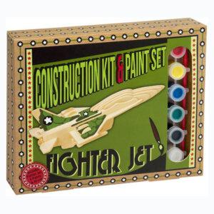 Ξύλινη κατασκευή Fighter Jet Construction Kit & Paint Set, Μαθηματική Βιβλιοθήκη, mathimatiki vivliothiki, κατασκευές, παιδικές κατασκευές, παιδικες κατασκευες, κατασκευες για παιδια, χειροτεχνιες, παιχνιδια για αγορια, παιχνιδια για παιδια, παιδικα παιχνιδια, ξύλινα παιχνίδια, παιχνίδια, παιχνιδια, παιχνιδια για κοριτσια, σπαζοκεφαλιές, δωρα, δώρα, δώρο, δωρο, επιτραπεζια, εποχιακα, CP-4