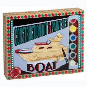 Ξύλινη κατασκευή Boat Construction Kit & Paint Set, Μαθηματική Βιβλιοθήκη, mathimatiki vivliothiki, κατασκευές, παιδικές κατασκευές, παιδικες κατασκευες, κατασκευες για παιδια, χειροτεχνιες, παιχνιδια για αγορια, παιχνιδια για παιδια, παιδικα παιχνιδια, ξύλινα παιχνίδια, παιχνίδια, παιχνιδια, παιχνιδια για κοριτσια, σπαζοκεφαλιές, δωρα, δώρα, δώρο, δωρο, επιτραπεζια, εποχιακα, CP-6