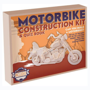 Ξύλινη Κατασκευή Motorbike Construction Kit & Quiz Book, Μαθηματική Βιβλιοθήκη, mathimatiki vivliothiki, κατασκευές, παιδικές κατασκευές, παιδικες κατασκευες, κατασκευες για παιδια, χειροτεχνιες, παιχνιδια για αγορια, παιχνιδια για παιδια, παιδικα παιχνιδια, ξύλινα παιχνίδια, παιχνίδια, παιχνιδια, παιχνιδια για κοριτσια, σπαζοκεφαλιές, δωρα, δώρα, δώρο, δωρο, επιτραπεζια, εποχιακα, CR-6