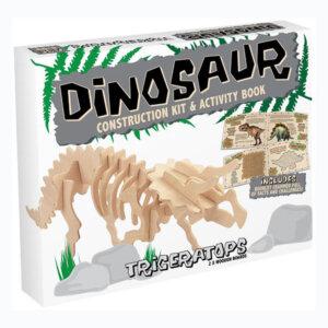 Professor Puzzle Ξύλινη κατασκευή Dinosaur Construction Kit Triceratops με βιβλίο, δεινόσαυρος, δεινοσαυροι, τρικερατοψ, 3d puzzle, 3d παζλ, παζλ, Μαθηματική Βιβλιοθήκη, mathimatiki vivliothiki, κατασκευές, παιδικές κατασκευές, παιδικες κατασκευες, κατασκευες για παιδια, χειροτεχνιες, παιχνιδια για αγορια, παιχνιδια για παιδια, παιδικα παιχνιδια, ξύλινα παιχνίδια, παιχνίδια, παιχνιδια, παιχνιδια για κοριτσια, σπαζοκεφαλιές, δωρα, δώρα, δώρο, δωρο, επιτραπεζια, εποχιακα, DR-7