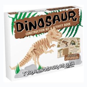 Professor Puzzle Ξύλινη κατασκευή Dinosaur Construction Kit Tyrannosaurus με βιβλίο, δεινόσαυρος, δεινοσαυροι, τυραννοσαυρος, 3d puzzle, 3d παζλ, παζλ, Μαθηματική Βιβλιοθήκη, mathimatiki vivliothiki, κατασκευές, παιδικές κατασκευές, παιδικες κατασκευες, κατασκευες για παιδια, χειροτεχνιες, παιχνιδια για αγορια, παιχνιδια για παιδια, παιδικα παιχνιδια, ξύλινα παιχνίδια, παιχνίδια, παιχνιδια, παιχνιδια για κοριτσια, σπαζοκεφαλιές, δωρα, δώρα, δώρο, δωρο, επιτραπεζια, εποχιακα, DR-8