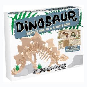 Professor Puzzle Ξύλινη κατασκευή Dinosaur Construction Kit Stegosaurus με βιβλίο, δεινόσαυρος, δεινοσαυροι, στεγοσαυρος, 3d puzzle, 3d παζλ, παζλ, Μαθηματική Βιβλιοθήκη, mathimatiki vivliothiki, κατασκευές, παιδικές κατασκευές, παιδικες κατασκευες, κατασκευες για παιδια, χειροτεχνιες, παιχνιδια για αγορια, παιχνιδια για παιδια, παιδικα παιχνιδια, ξύλινα παιχνίδια, παιχνίδια, παιχνιδια, παιχνιδια για κοριτσια, σπαζοκεφαλιές, δωρα, δώρα, δώρο, δωρο, επιτραπεζια, εποχιακα, DR-9