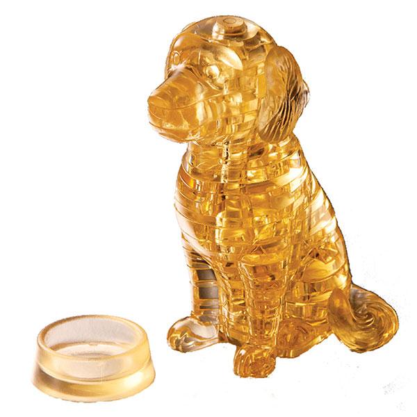 Crystal Puzzle Golden Retriever 3D