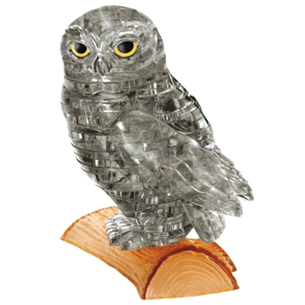 Crystal Puzzle Owl Black 3D