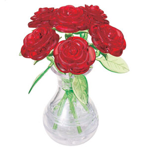 Crystal Puzzle Six Rose Red 3D, 3D παζλ, 3D puzzle, 3D pazl, παζλ, pazl, puzzle, 3D puzzle, 3D παζλ, παζλ, puzzles, τανκ 3D, Mathimatiki Vivliothiki, παιδικά παιχνίδια, παιχνίδια, παιχνιδια, παιχνίδια για κορίτσια, παιχνίδια για αγόρια, επιτραπέζια, παιχνίδια με παζλ, δώρα, δώρο, crystal puzzle 90152