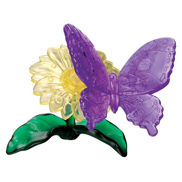 Crystal Puzzle Butterfly Purple 3D