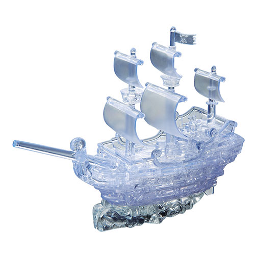 Crystal Puzzle Pirate Ship U-Clear 3D