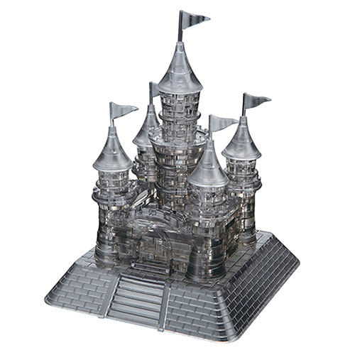 Crystal Puzzle Castle Black 3D